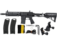 Tippmann TMC Paintball Rifle w/ Gas Thru Adjustable Stock - Black/Black