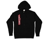 Valken Zip Up Side Logo Hooded Sweatshirt - Black