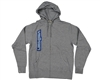 Valken Zip Up Side Logo Hooded Sweatshirt - Light Grey