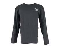 Valken Paintball Long Sleeve Stitched Logo T-Shirt - Grey