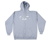 Valken Zip Up Hooded Sweatshirt - V-Logo - Heather Grey