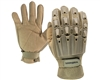 Valken Alpha Full Finger Plastic Back Paintball Gloves - Tan
