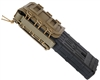 Warrior Molle Pull Down Magazine Pouch - Dye DAM/Planet MG100 Magazines - Tan