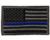 Warrior Morale Patch w/ Velcro - US Flag - Black/Grey/Blue