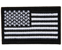 Warrior Morale Patch w/ Velcro - US Flag - Black/White