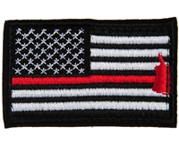 Warrior Morale Patch w/ Velcro - US Flag - Black/White/Red