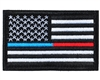Warrior Morale Patch w/ Velcro - US Flag - Blue & Red Line
