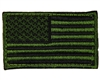 Warrior Morale Patch w/ Velcro - US Flag - Green/Black