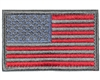 Warrior Morale Patch w/ Velcro - US Flag - Grey/Red