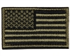 Warrior Morale Patch w/ Velcro - US Flag - Olive/Black