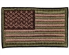 Warrior Morale Patch w/ Velcro - US Flag - Olive/Tan/Brown