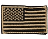 Warrior Morale Patch w/ Velcro - US Flag - Tan/Black