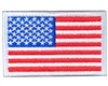 Warrior Morale Patch w/ Velcro - US Flag - White/Red