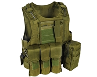 Warrior Molle Tactical Vest w/ Attachments - Olive Drab