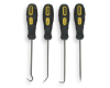 Stanley 4 Piece Pick & Hook Set w/ Plastic Grips
