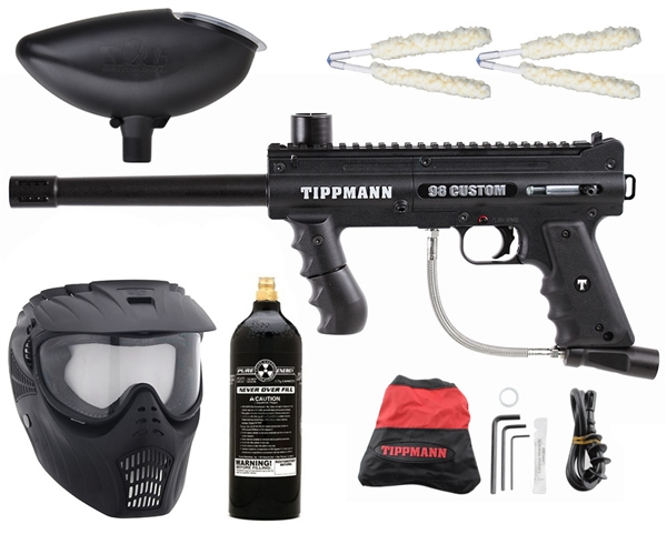 Tippmann 98 Custom Platinum Series - GxG Mask, 20 Oz CO2 Tank