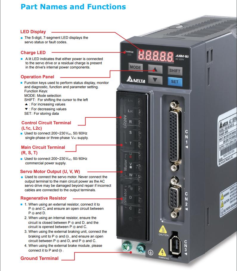 Industrial Automation & Motion Controls ASD-B2-0721-B DELTA AC ...