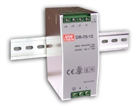 Mean Well: DIN Rail Power Supply (DR-75)