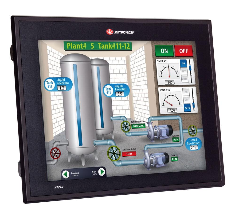Unitronics: PLC+HMI (Vision1210 Series)