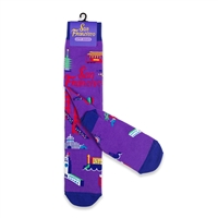 San Francisco City Socks - Purple