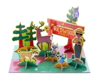 Redwood Forest Pop-Out and Play Set