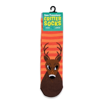 Kids SF Critter Socks - Mule Deer