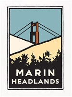 11x17 Print Marin Headlands