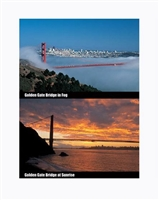 Lenticular Postcard GGB Sunrise and Fog