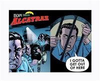 Lenticular Postcard Alcatraz Comic Escape 1962