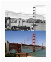 Lenticular Postcard -GGB and Fort Point