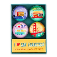 Crystal Magnet Set - I ♥ San Francisco