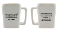 Alcatraz Regulation 21 Mug