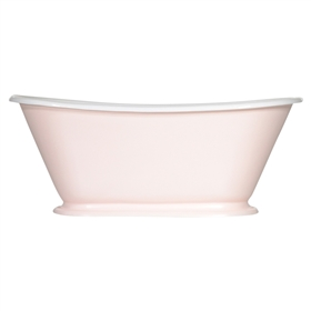 "Any Solid Color 'Gigi-60' 60"" Cast Iron Petit Bateau Tub with Drain"