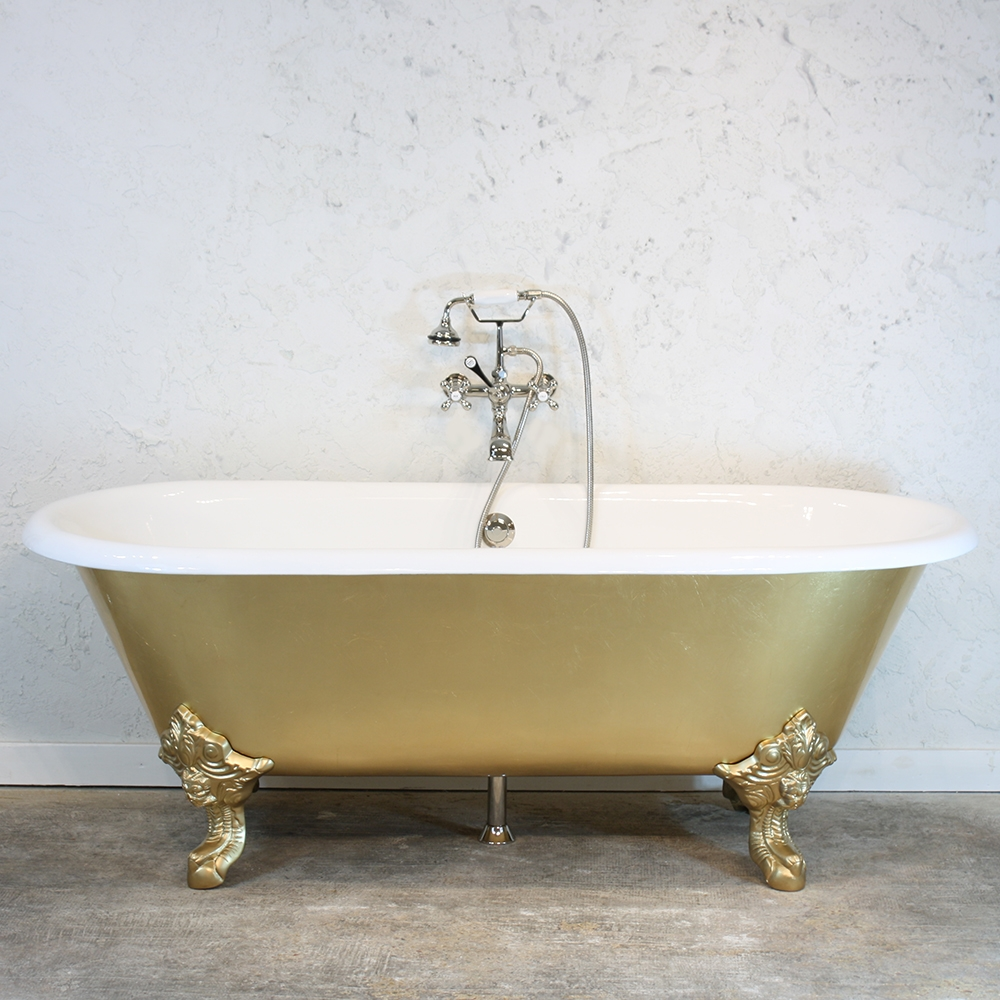 The Balmoral\' Cast Iron Double Ended Clawfoot Bathtub with a Hand ...