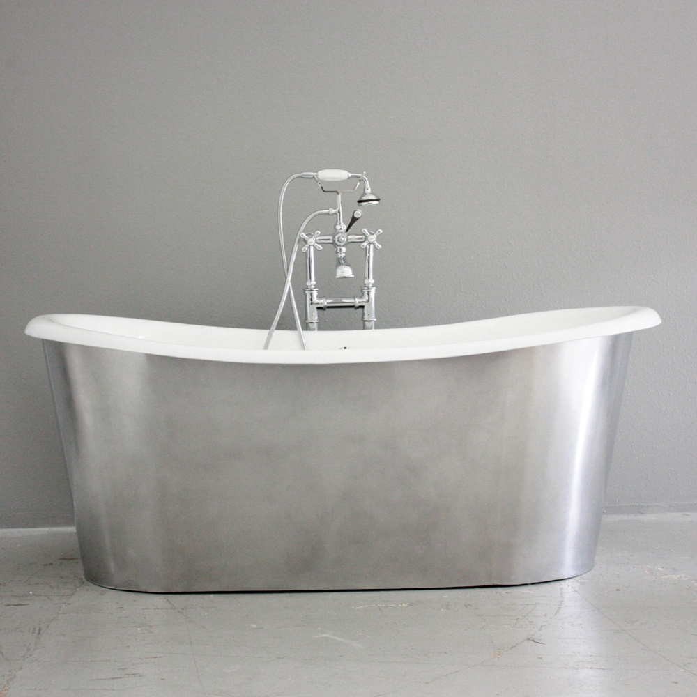Br The Bardsey68 68 Cast Iron French Bateau Tub With Burnished