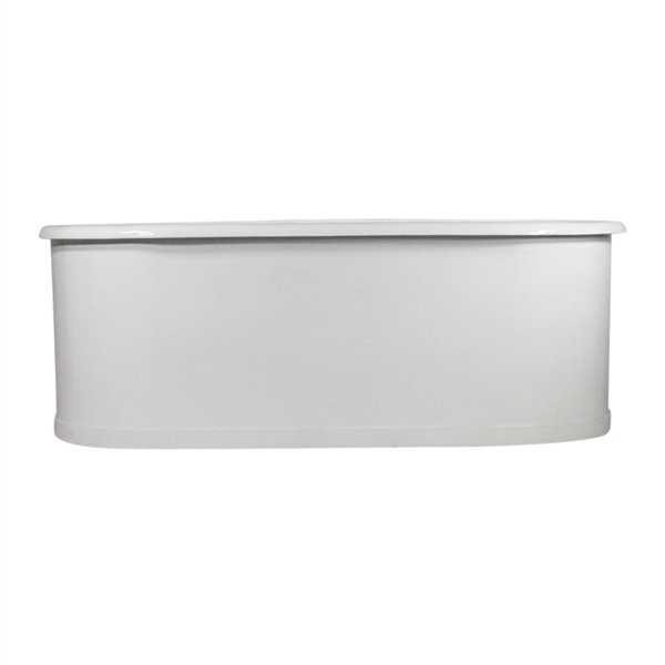 "Any Solid Color 'Blackfriars73' 73"" Cast Iron Double Ended Metal Skirted Tub and Drain"