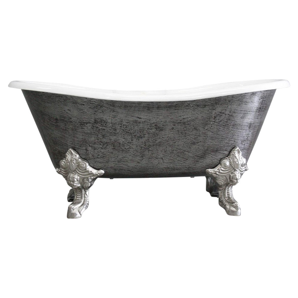 the vintage designer burnished cast iron clawfoot bateau bathtubs from penhaglion