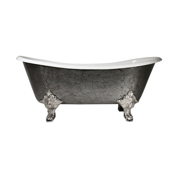 The Bridlington 68 Vintage Designer Burnished Cast Iron Clawfoot Bateau Bathtubs from Penhaglion.