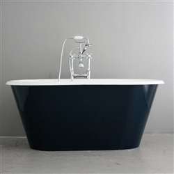 "<br>'The Brinkburn' 61"" Cast Iron Double Ended Tub with MOONLIGHT BLUE Exterior plus Drain<BR>"