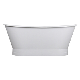 "<br>'The Carisbrooke' 68"" Cast Iron French Bateau Tub and Drain<BR>"