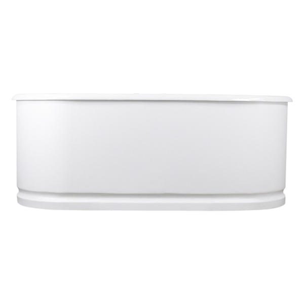 "Any Solid Color 'Cartmel66' 66"" Cast Iron Metal Skirted Double Ended Tub and Drain"
