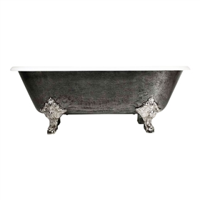 "<br>'The Chesterton' 73"" Cast Iron Double Ended Clawfoot Tub<BR>with a HAND BURNISHED Natural Iron Exterior plus Drain<BR>"