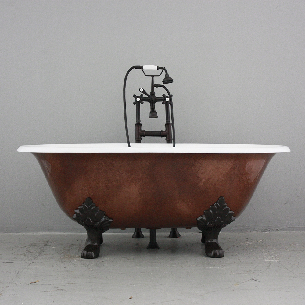 Croyland 61 Quot Cast Iron Double Ended Tub Package With Dark