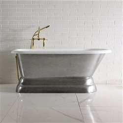 "'The Dalby' 60"" Cast Iron Classic Style Pedestal Tub and Drain"