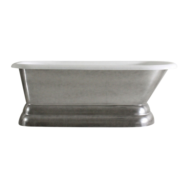 "'The Dalby66' 66"" Cast Iron Classic Style Pedestal Tub and Drain"