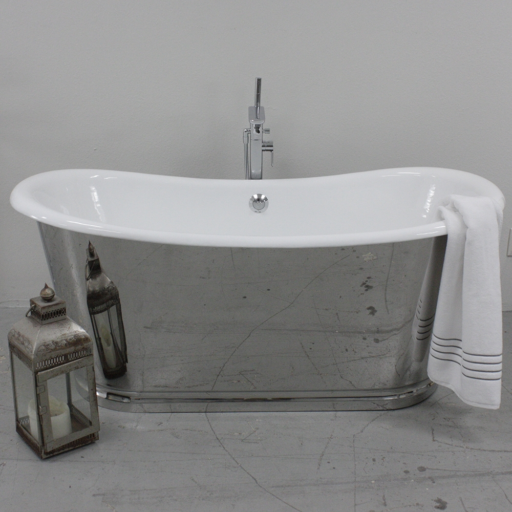 Br The Darley 73 Cast Iron French Bateau Tub Package With