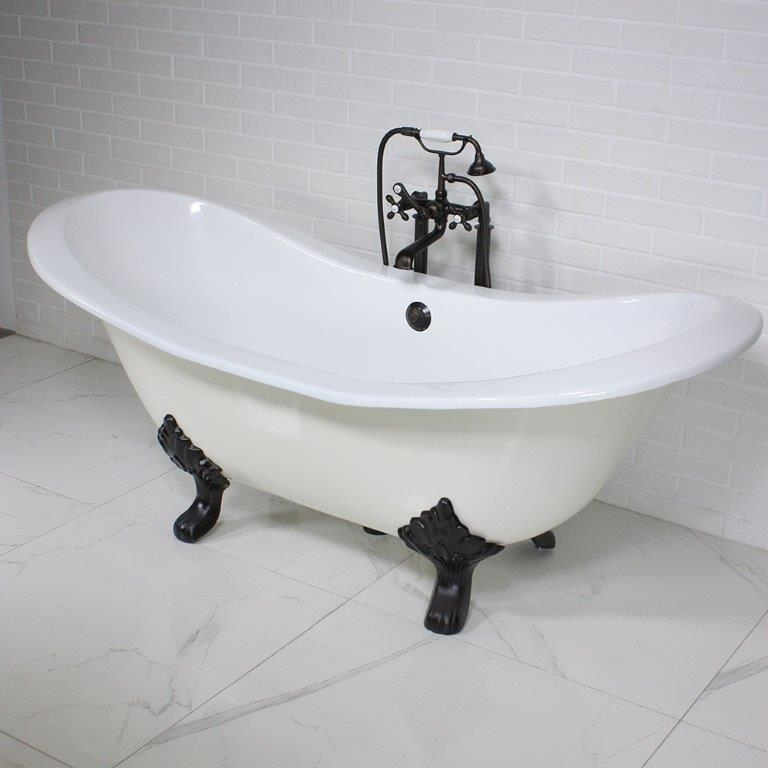 The Dudley68 68 Cast Iron Double Slipper Tub