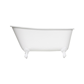 "Any Solid Color 'Elstow-57' 57"" All Inclusive Cast Iron Swedish Slipper Clawfoot Tub Package"