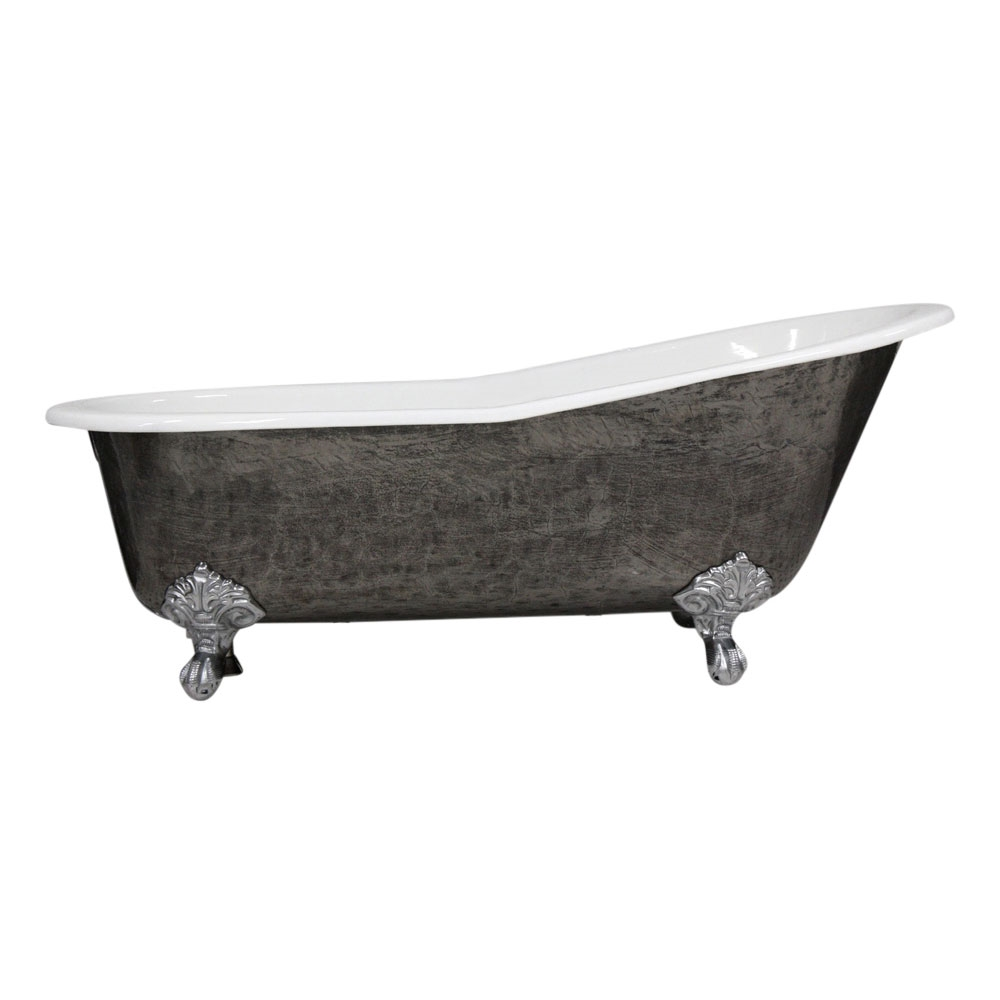 BrThe Kelso 67 Cast Iron Single Slipper Clawfoot Tub With