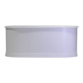 "Any Solid Color 'Kelvinside61' 61"" Cast Iron Double Ended Metal Skirted Tub with Penhaglion Step Base and Drain"